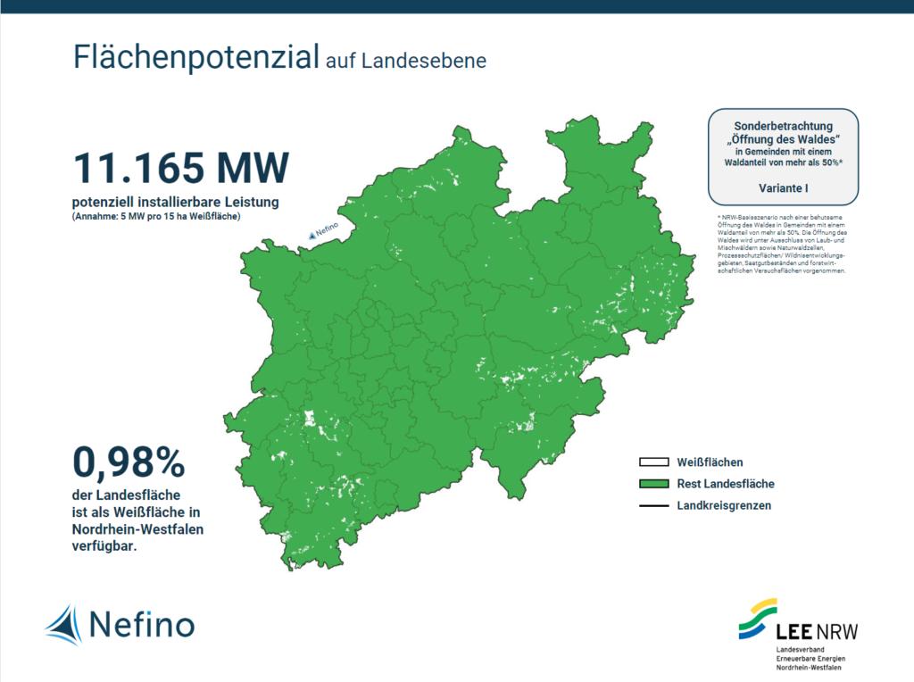 Flächenpotenzial der Windenergie in Nordrhein-Westfalen