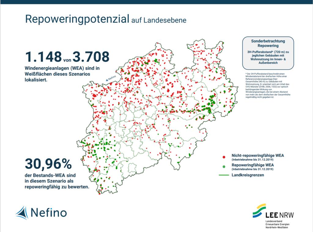 Repoweringpotenzial der Windenergieanlagen in Nordrhein-Westfalen